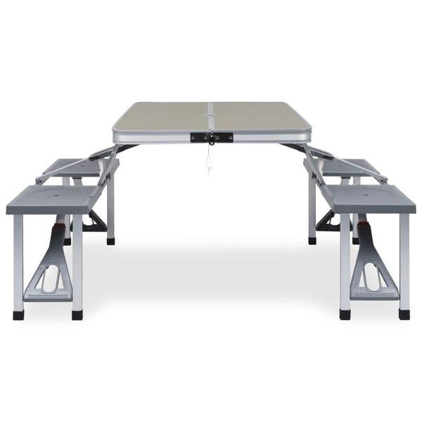 SG Campingtafel inklapbaar met 4 zitjes staal en aluminium