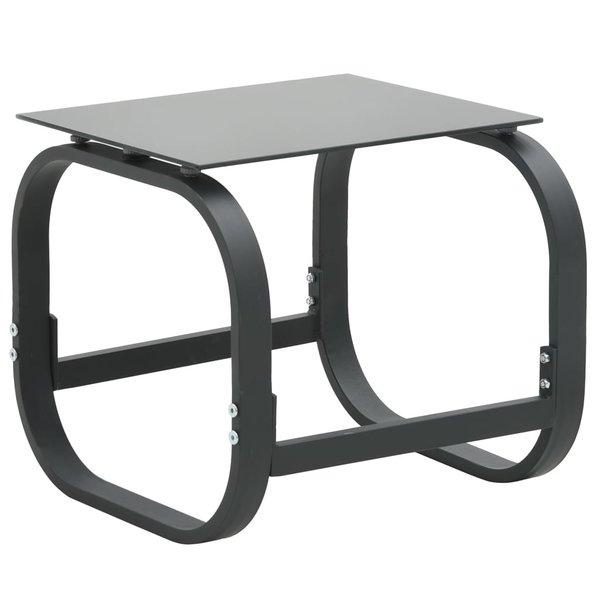 SG Ligbedden 2 st met tafel textileen en aluminium