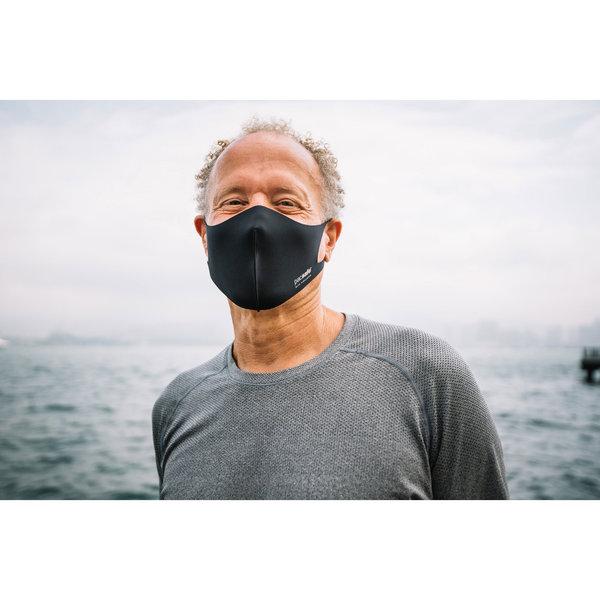 Pacsafe Viraloff gezichtsmasker in zwart en alu grijs