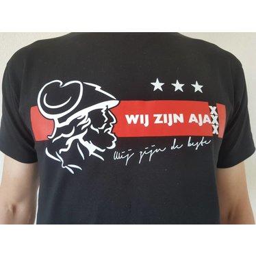 Wij Zijn Ajax , Wij Zijn De Beste  Amsterdam Locals WZAWZDB T-shirt met Stretch