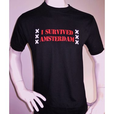 Amsterdam Locals T-shirt I Survived Amsterdam, Amsterdam Locals