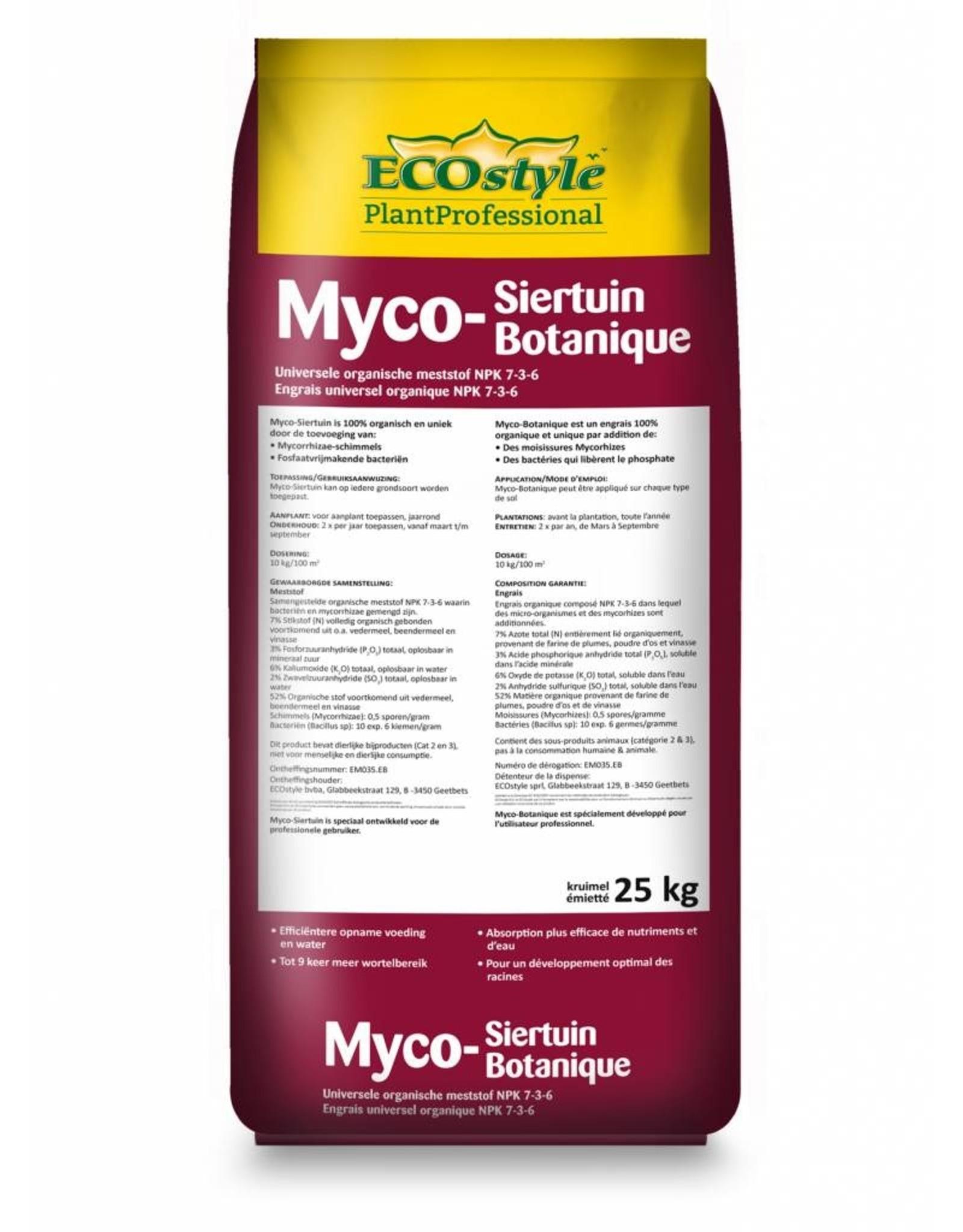 Ecostyle Professioneel Myco-Siertuin Meststof 25 kg met ProtoPlus