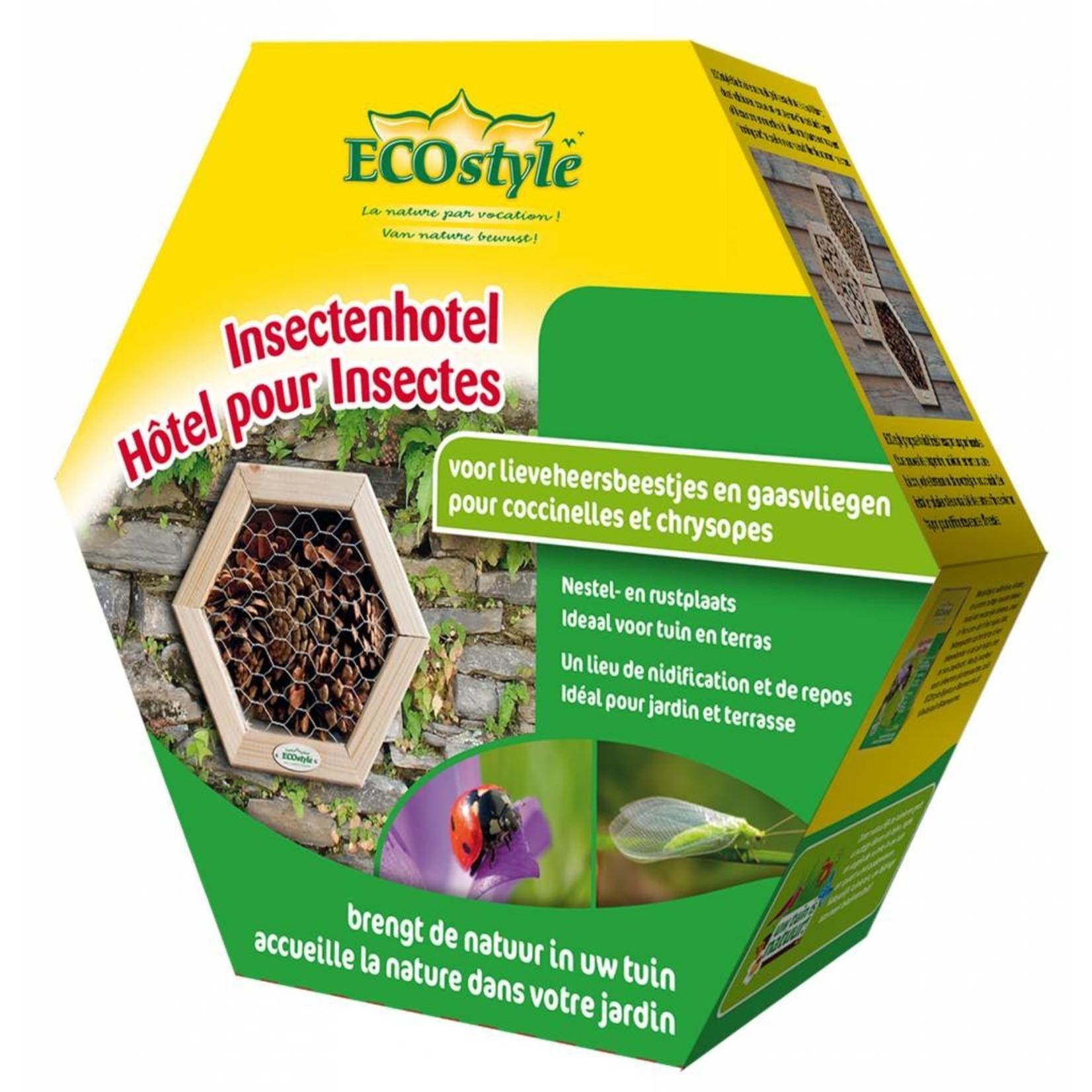 Ecostyle Insectenhotel voor lieveheersbeestjes en gaasvliegen (honingraat)