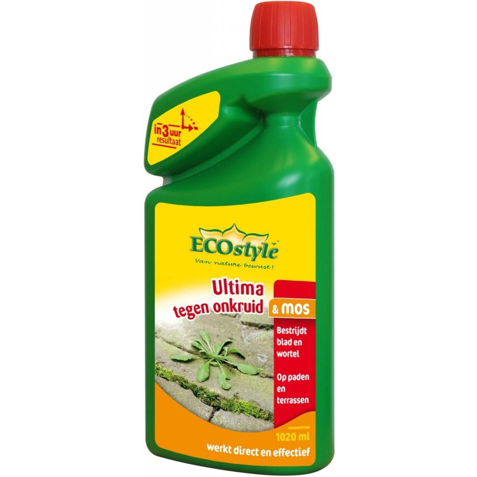 Ecostyle Ultima tegen onkruid & mos 1020 ml (concentraat)