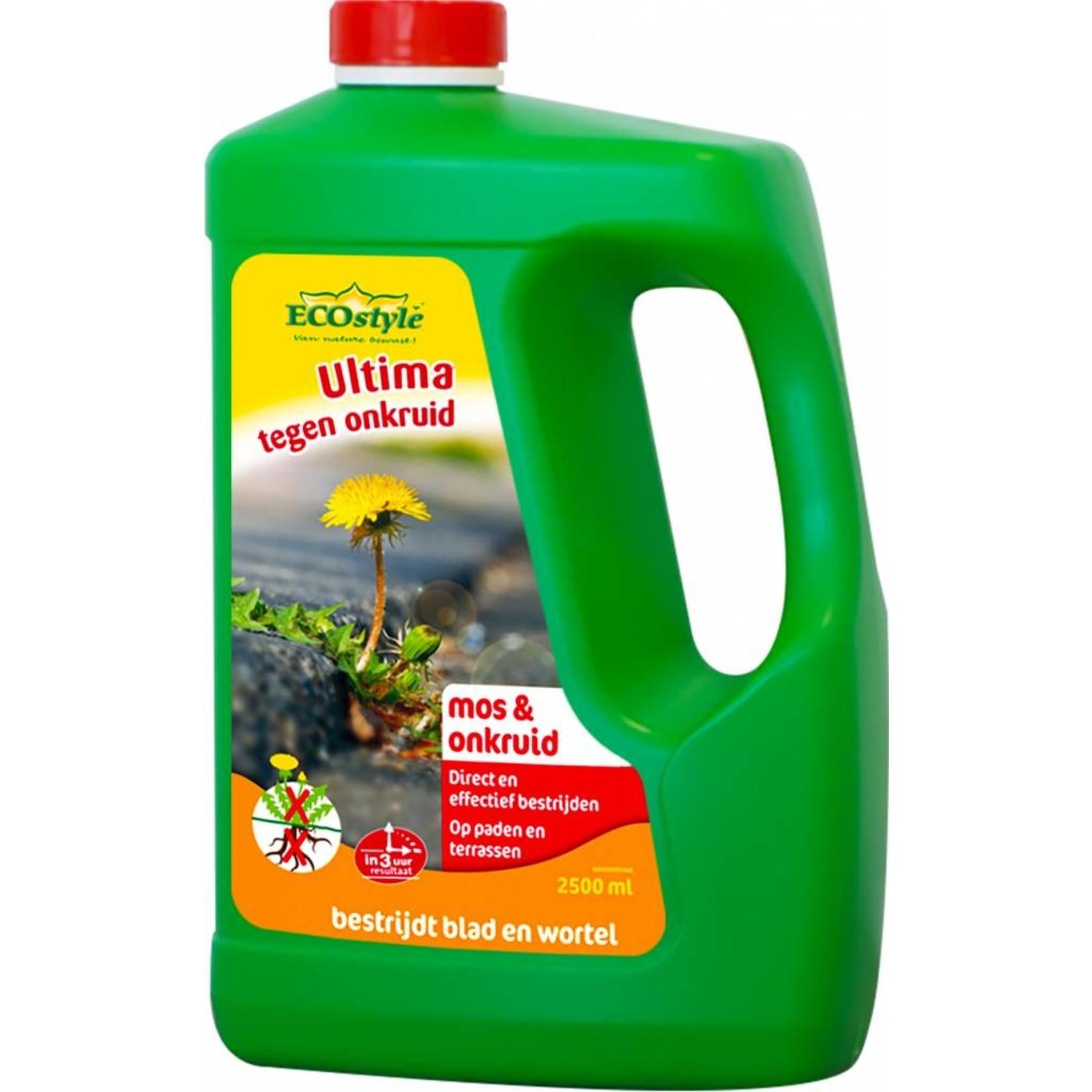 Ecostyle Ultima tegen onkruid & mos 2,5 liter (concentraat)