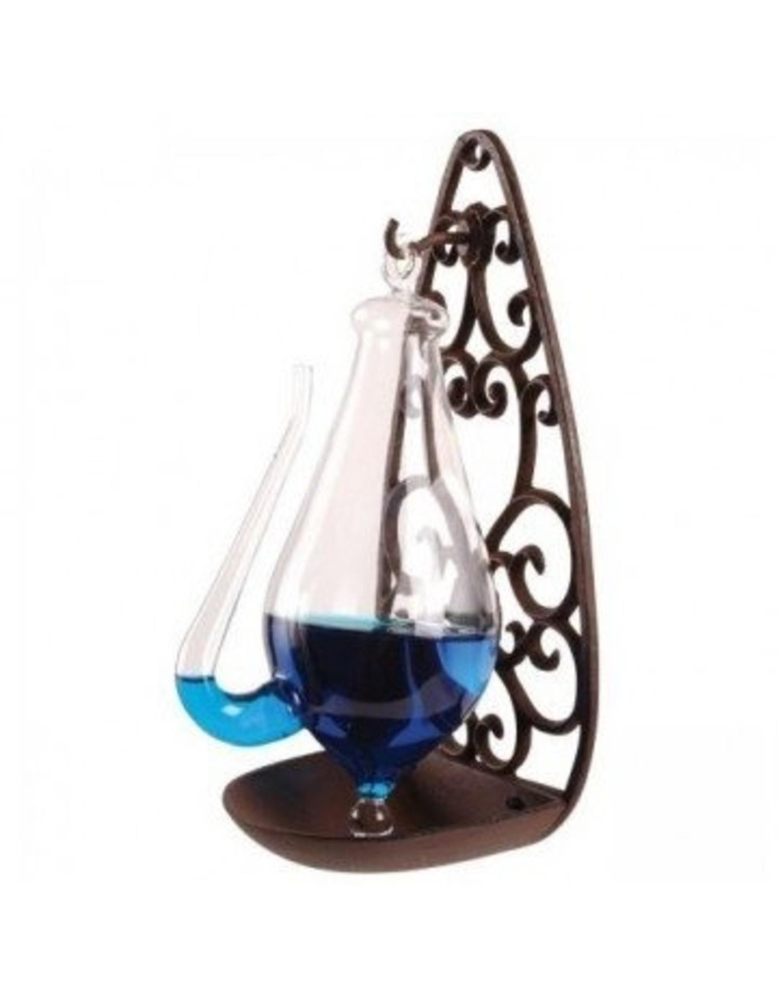 Esschert Barometer Donderglas met gietijzer houder