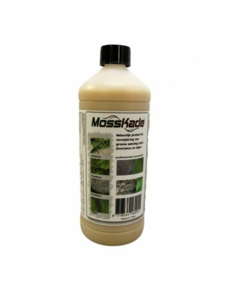 MossKade 1 liter (concentraat) tegen levermos, mos, korstmos en algen