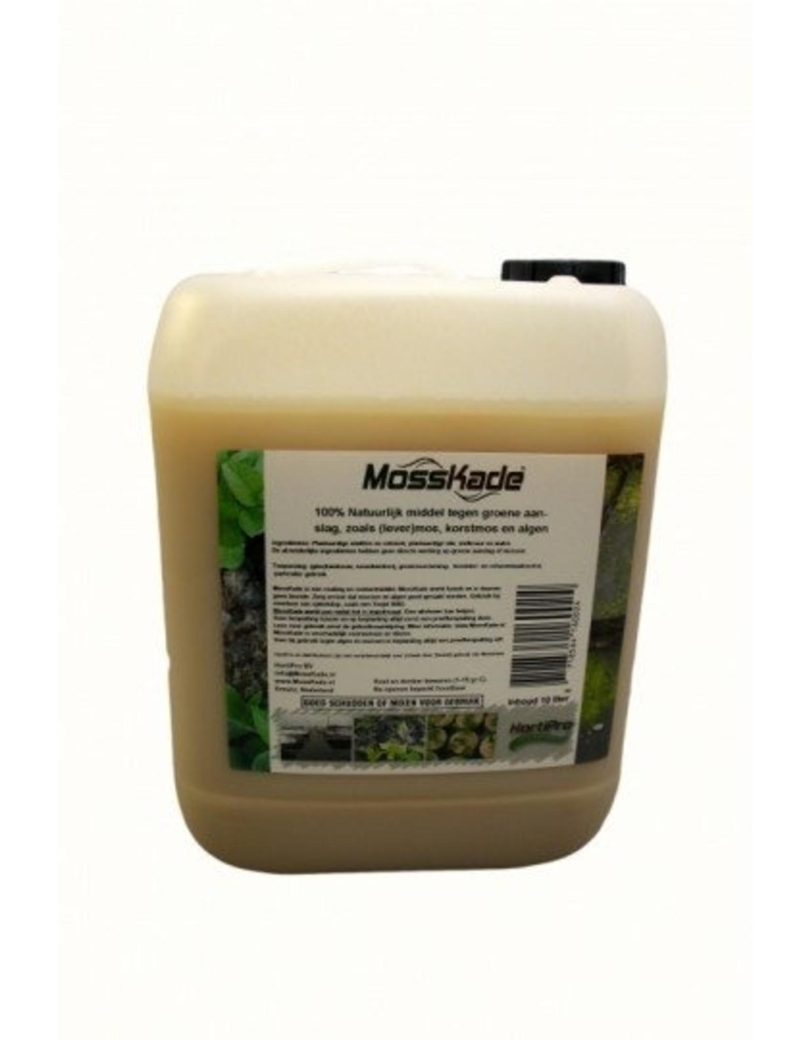 MossKade 10 liter (concentraat) tegen levermos, mos (ook in het gazon), korstmos en algen