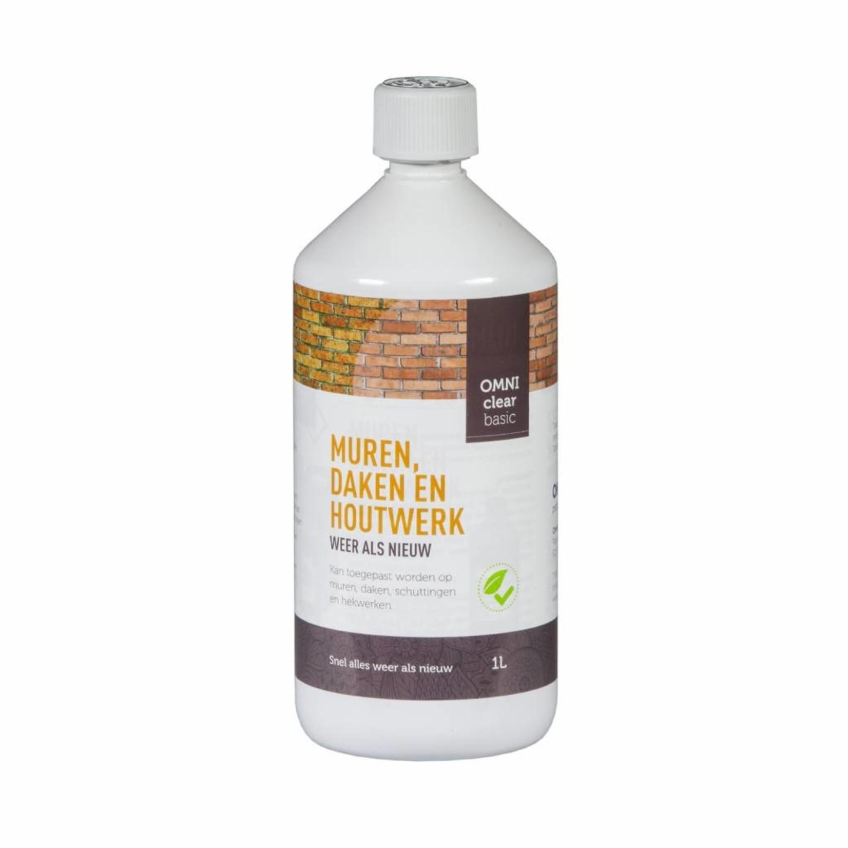 Omni Clear Basic vloeibaar 1 liter (concentraat) tegen groene aanslag en mossen