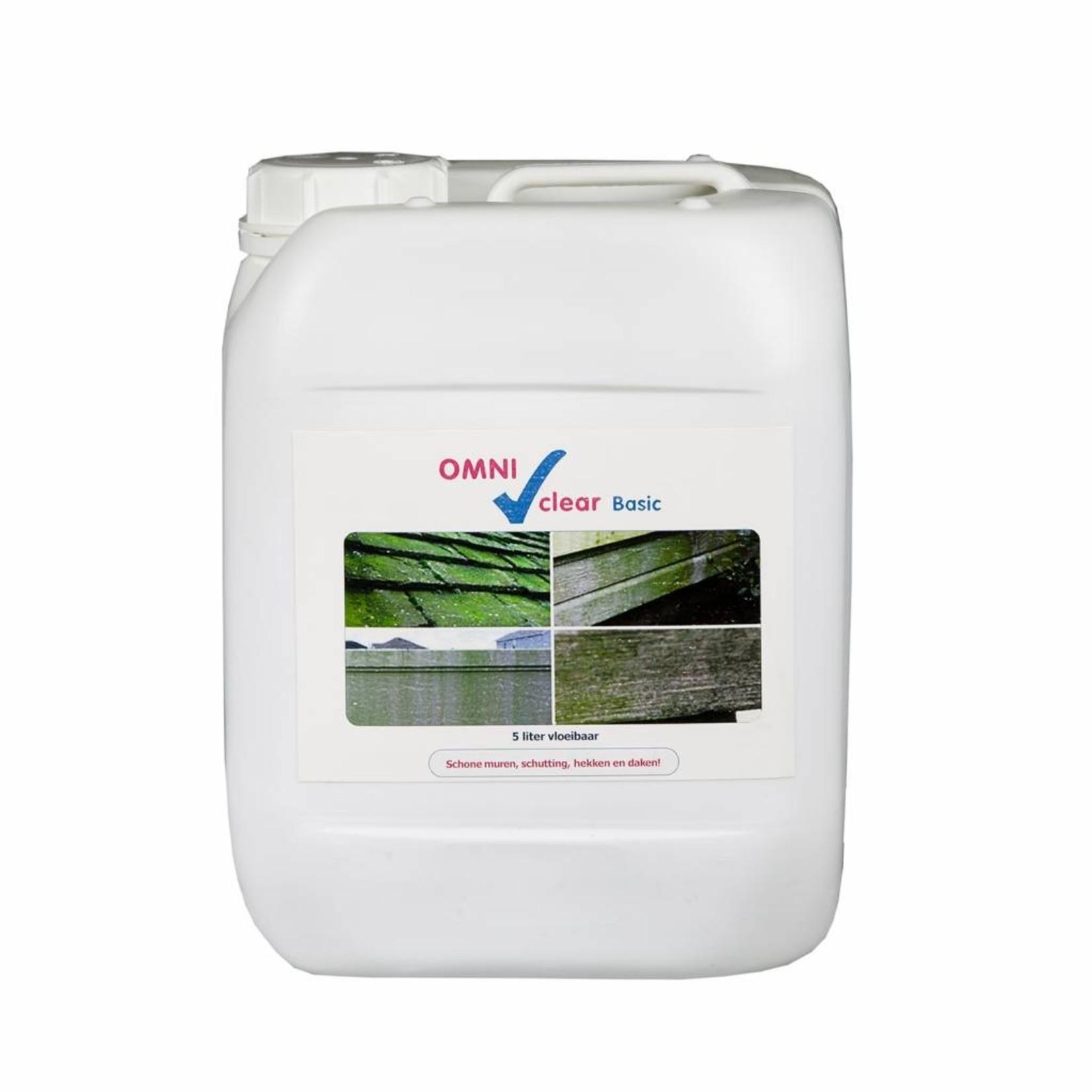 Omni Clear Basic vloeibaar 5 liter (concentraat) tegen groene aanslag en mossen