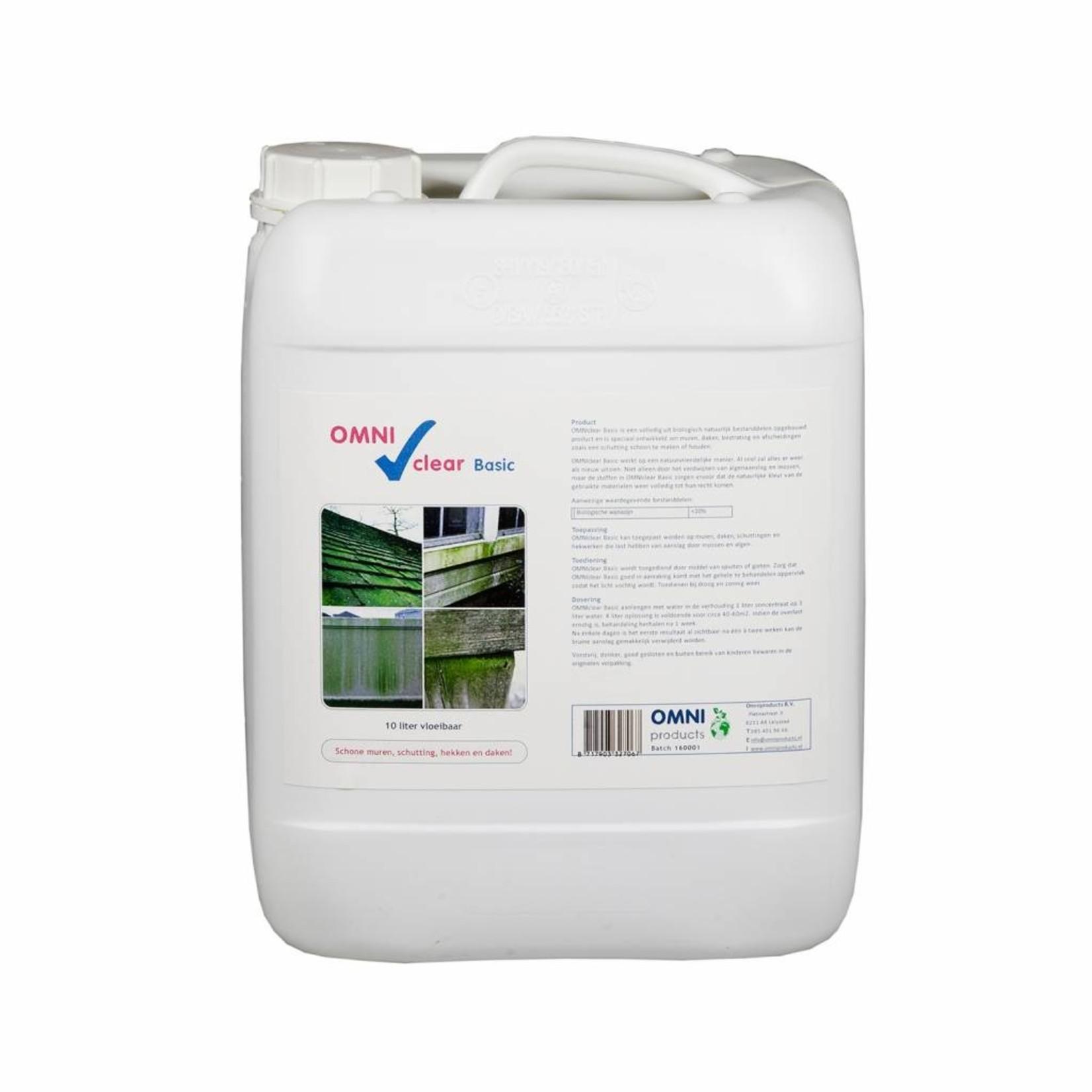 Omni Clear Basic vloeibaar 10 liter (concentraat) tegen groene aanslag en mossen