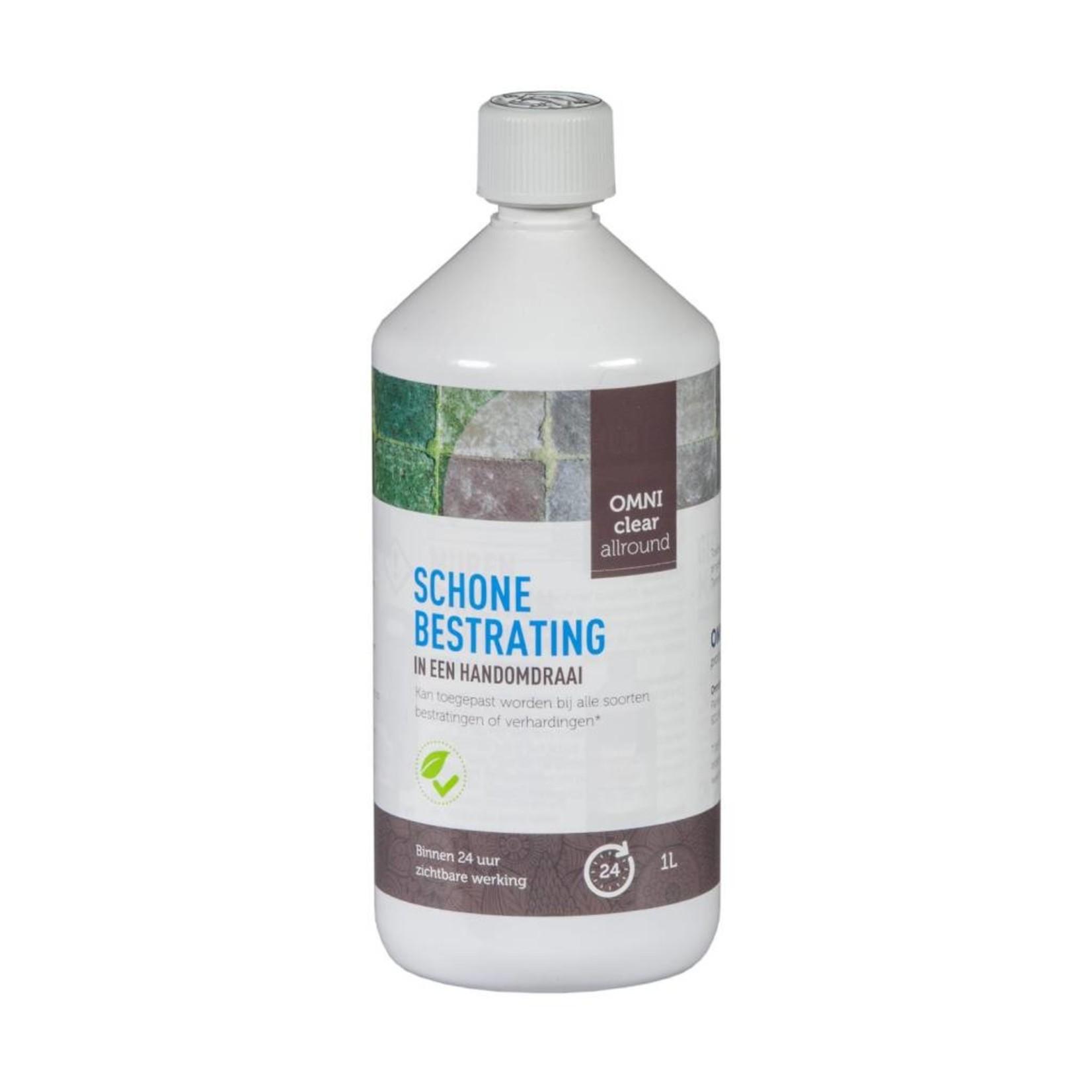 Omni Clear Allround 1 liter (concentraat) tegen groene aanslag, mossen en onkruiden