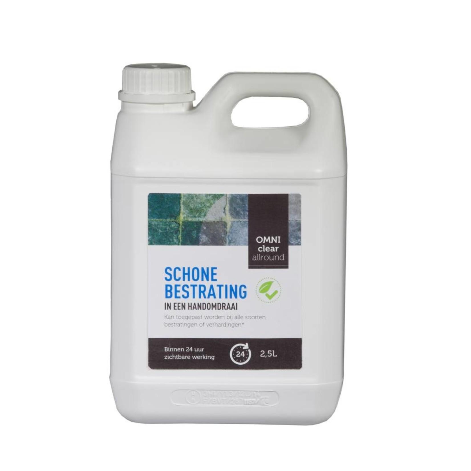 Omni Clear Allround 2,5 liter (concentraat) tegen groene aanslag, mossen en onkruiden