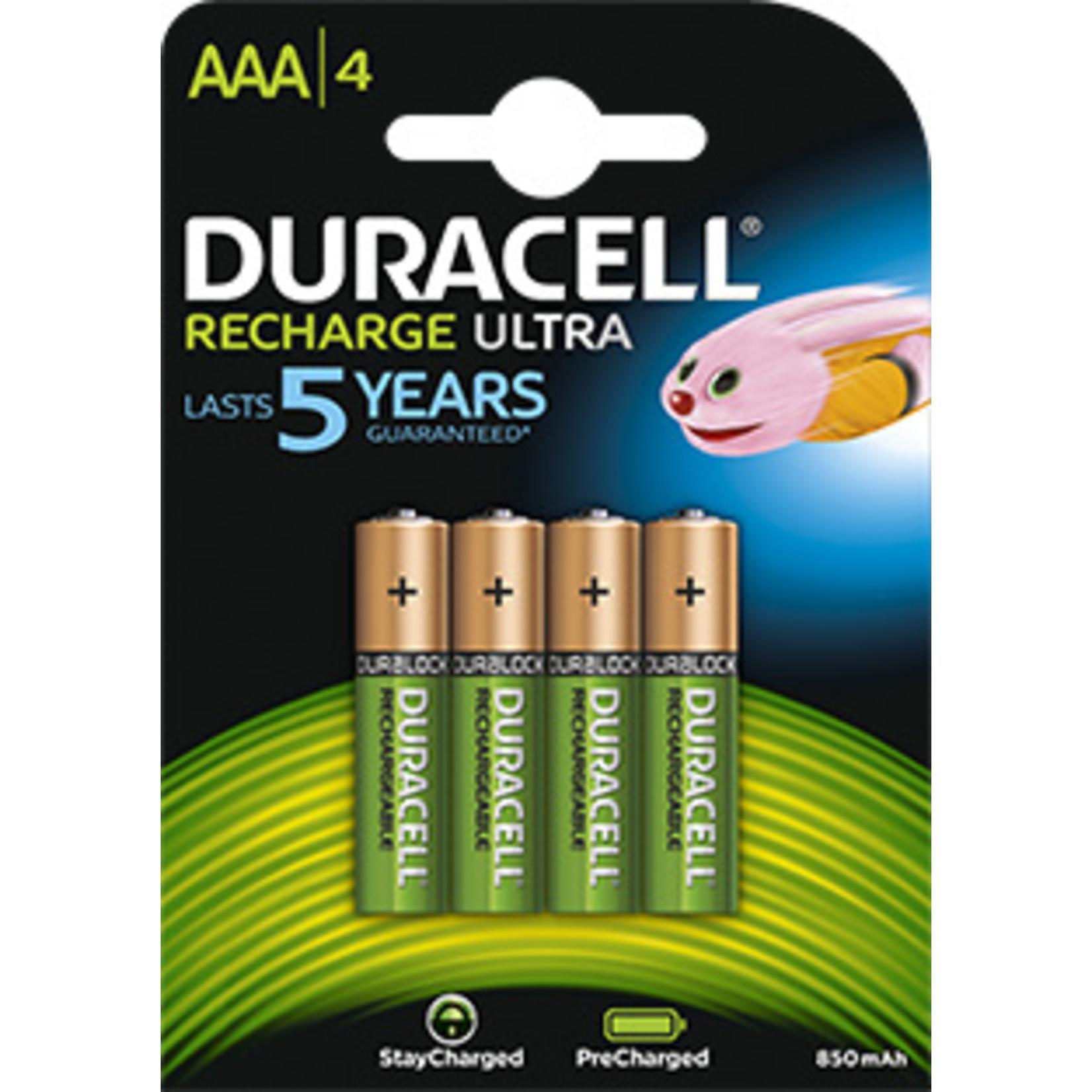Duracell Batterijen oplaadbaar type AAA (4 stuks)