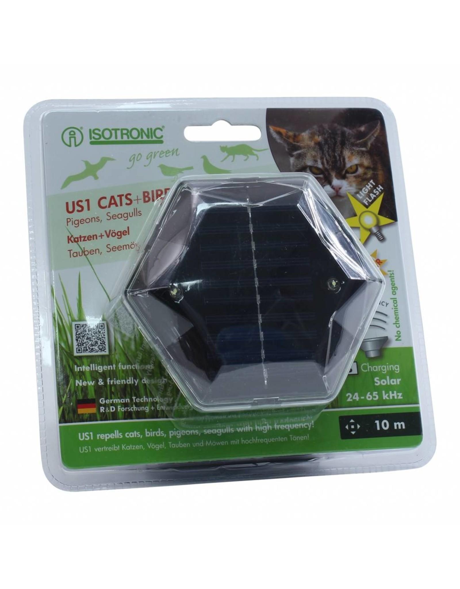 Isotronic Mobiele solar katten en vogelverjager