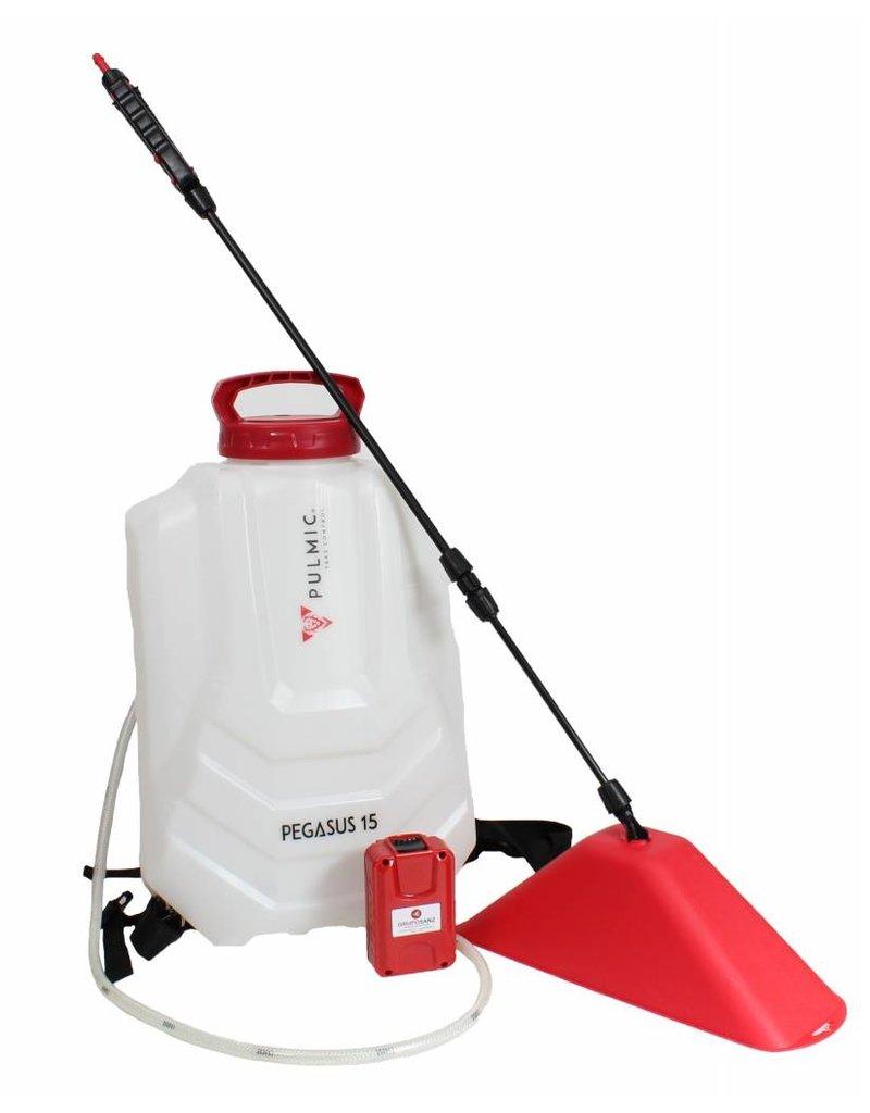 Pulmic Accu Rugspuit Set Pegasus - 15 liter