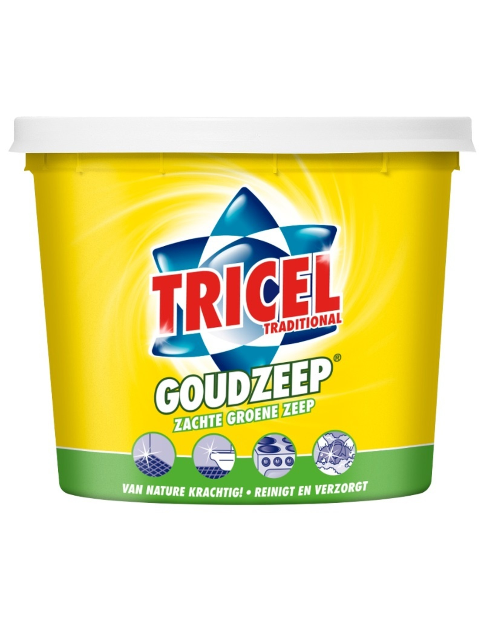 Tricel zachte goudzeep (groene zeep) 5 kg