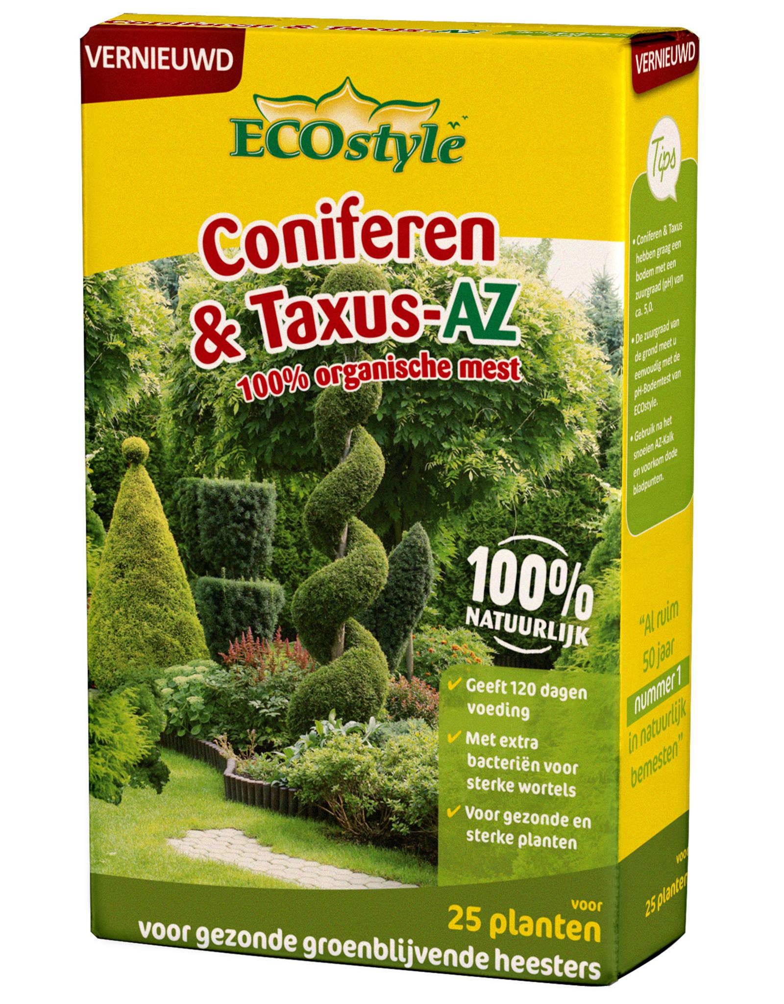 Ecostyle Coniferen & Taxus-AZ 800 gram meststof (voor ca. 25 planten)