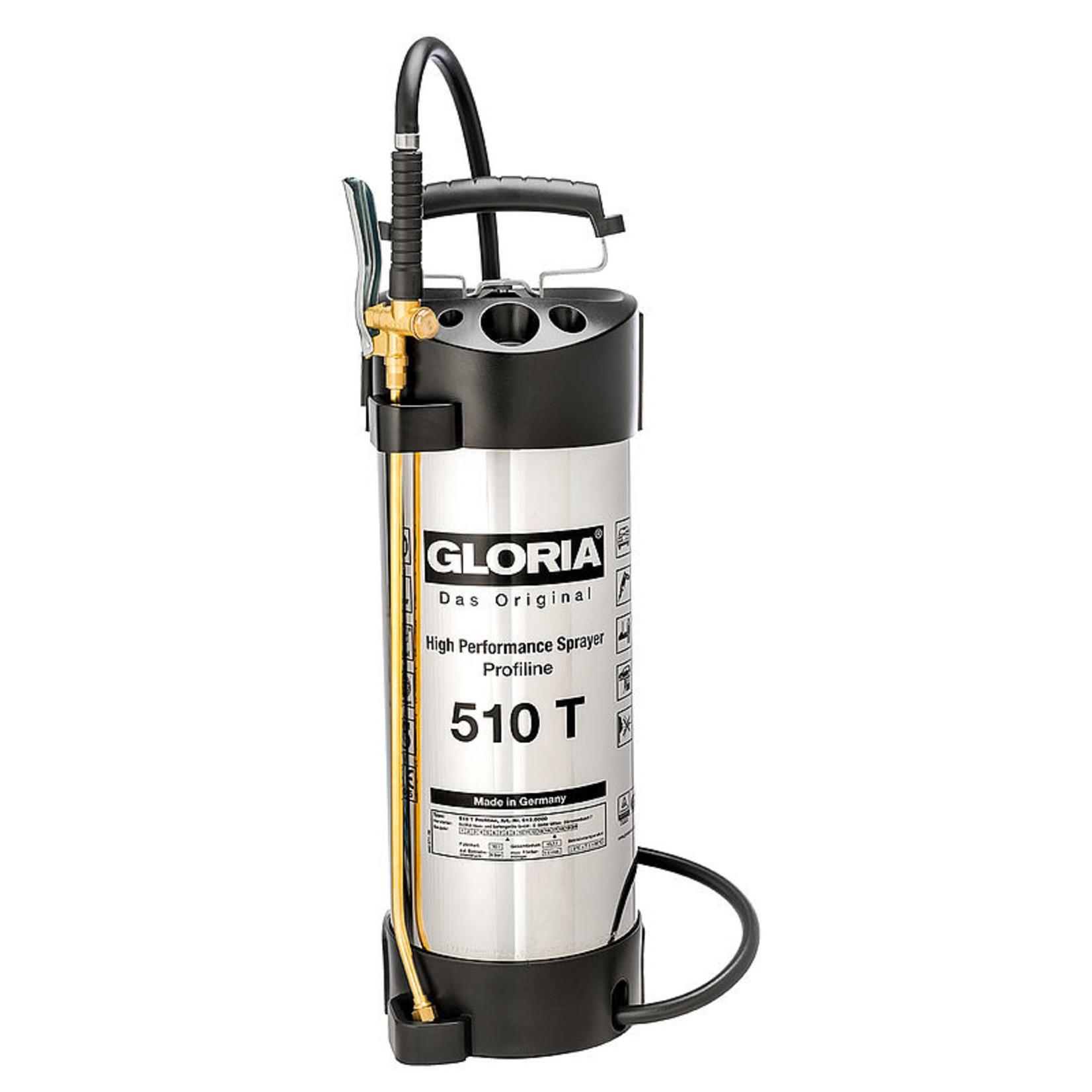 Gloria Industrie Hogedrukspuit RVS 510T Profiline (10 liter)