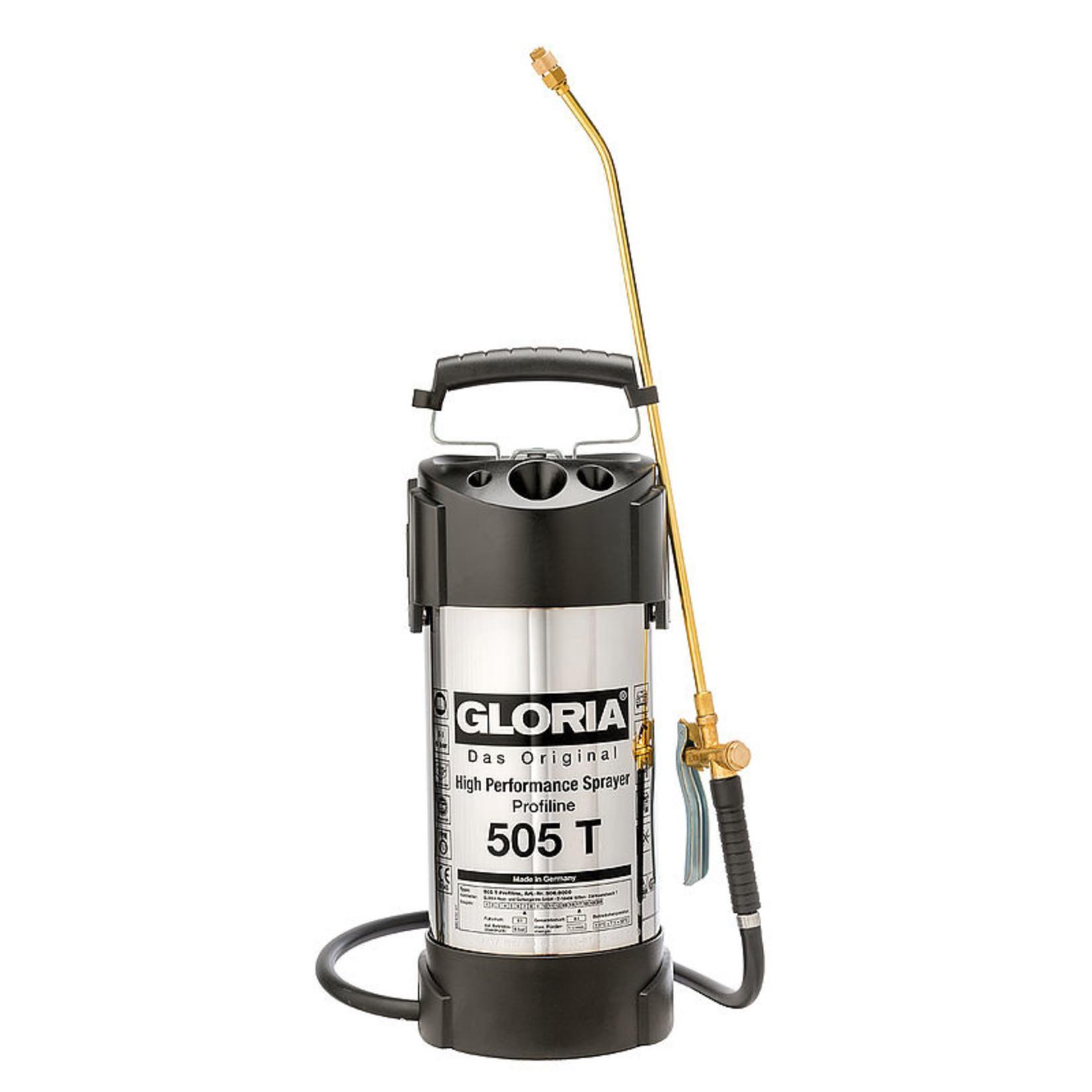 Gloria Industrie Hogedrukspuit RVS 505T Profiline (5 liter)