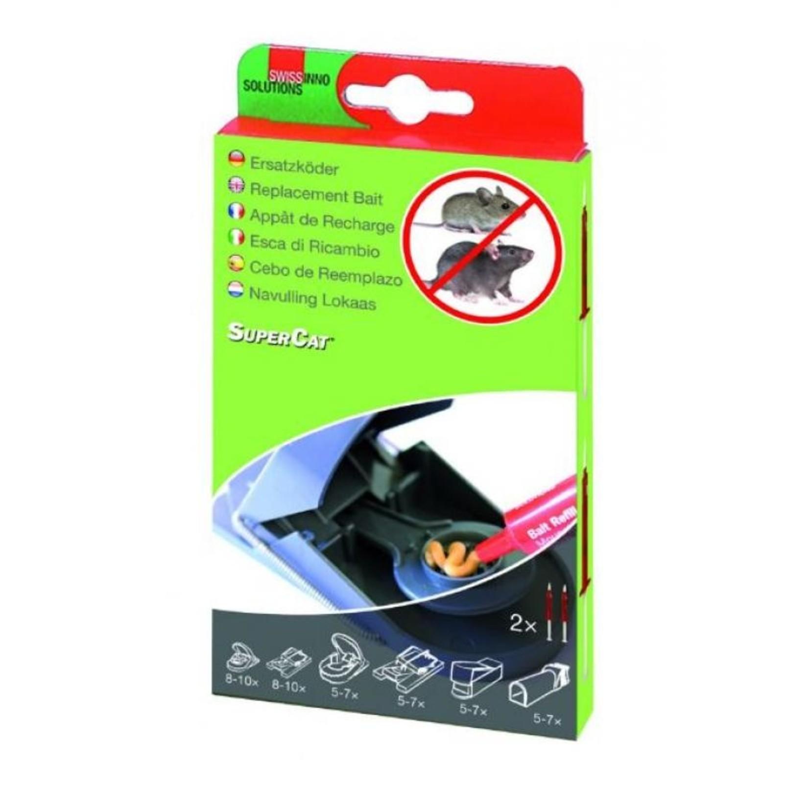 Swissinno Lokaas-Spuit SuperCat (2 stuks) voor alle muizen- en rattenvallen