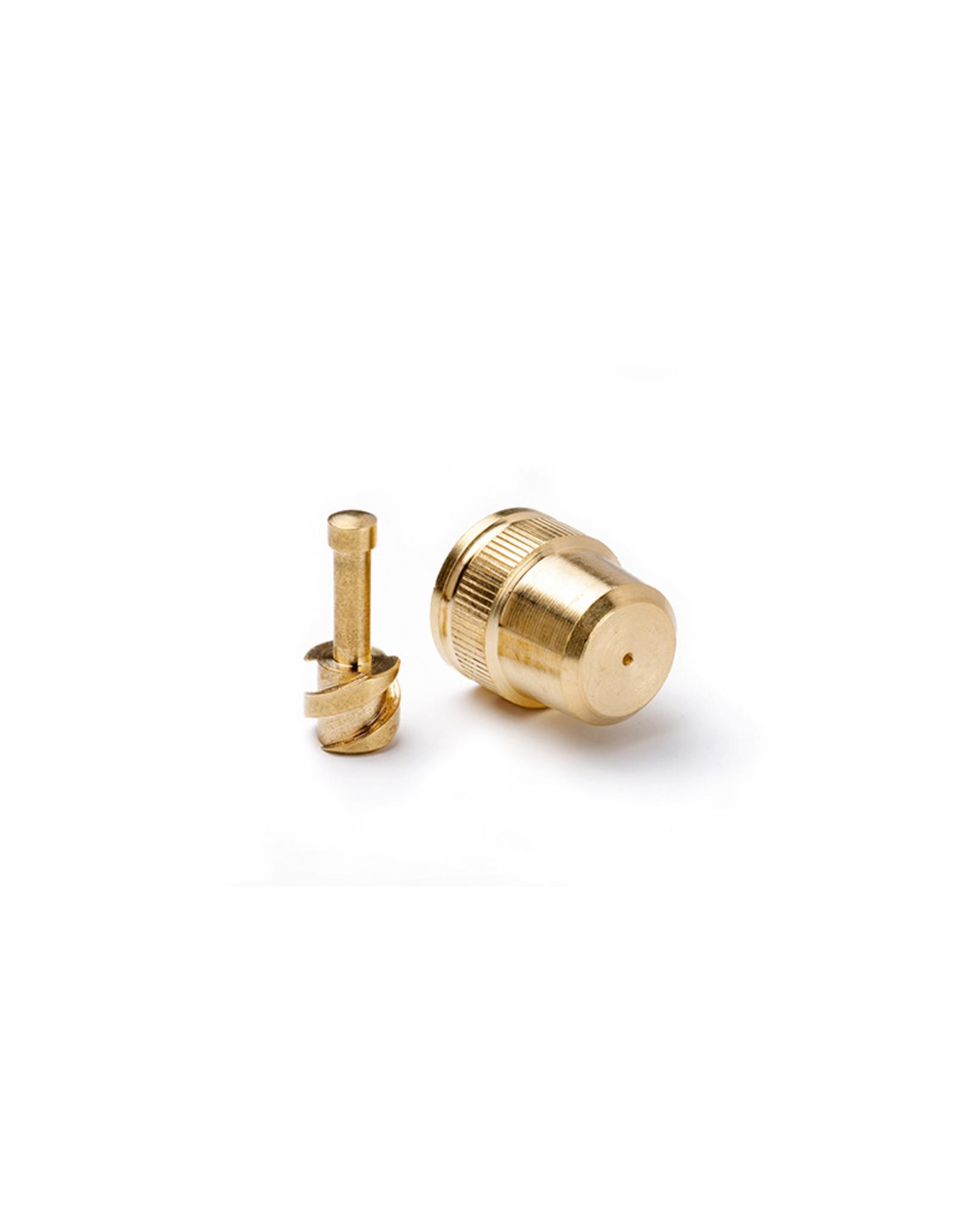 Gloria onderdelen Messing Sproeidop Ø 1 mm met wervellichaam