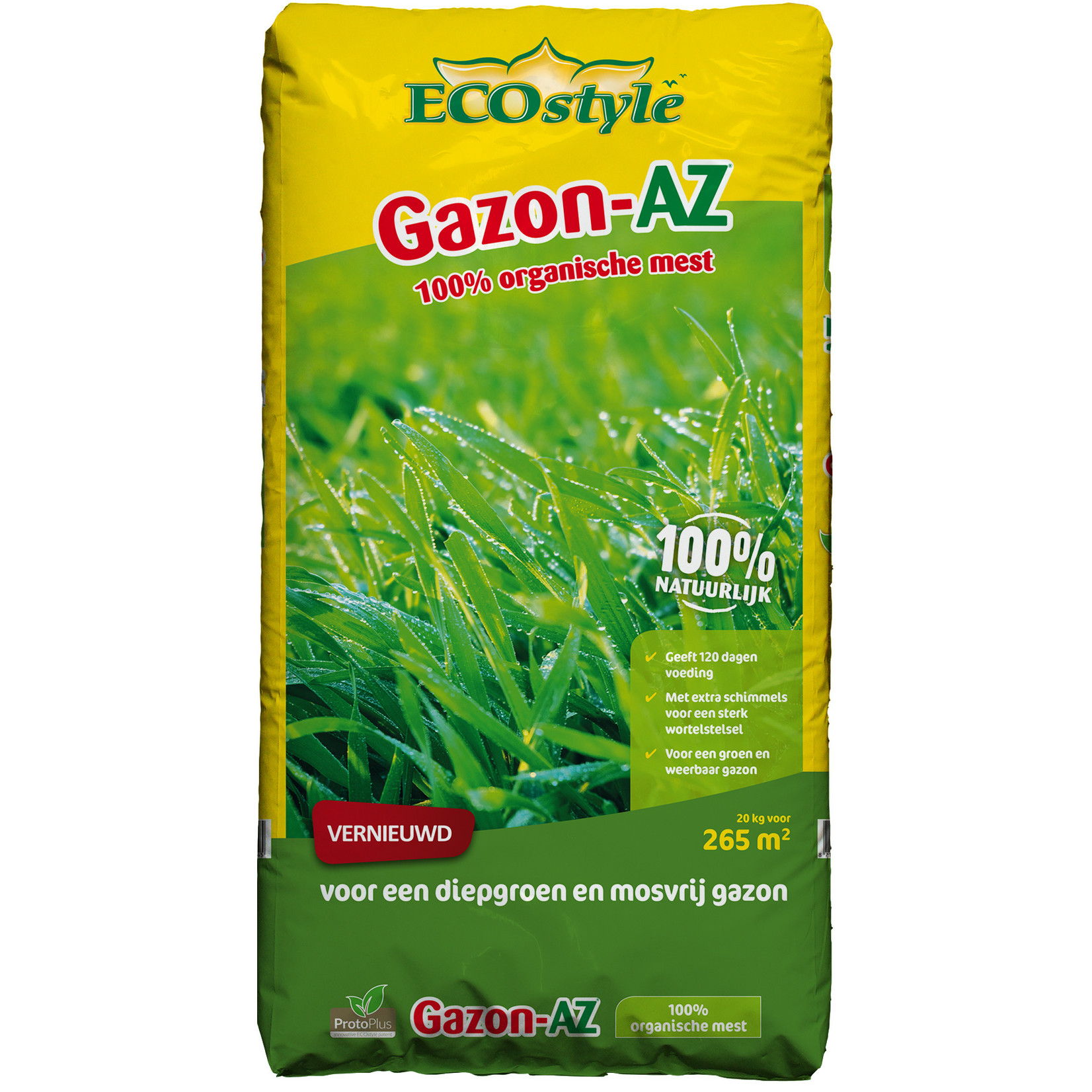 Ecostyle Gazon AZ 20 kg (265 m²) met ProtoPlus en RhizaMax