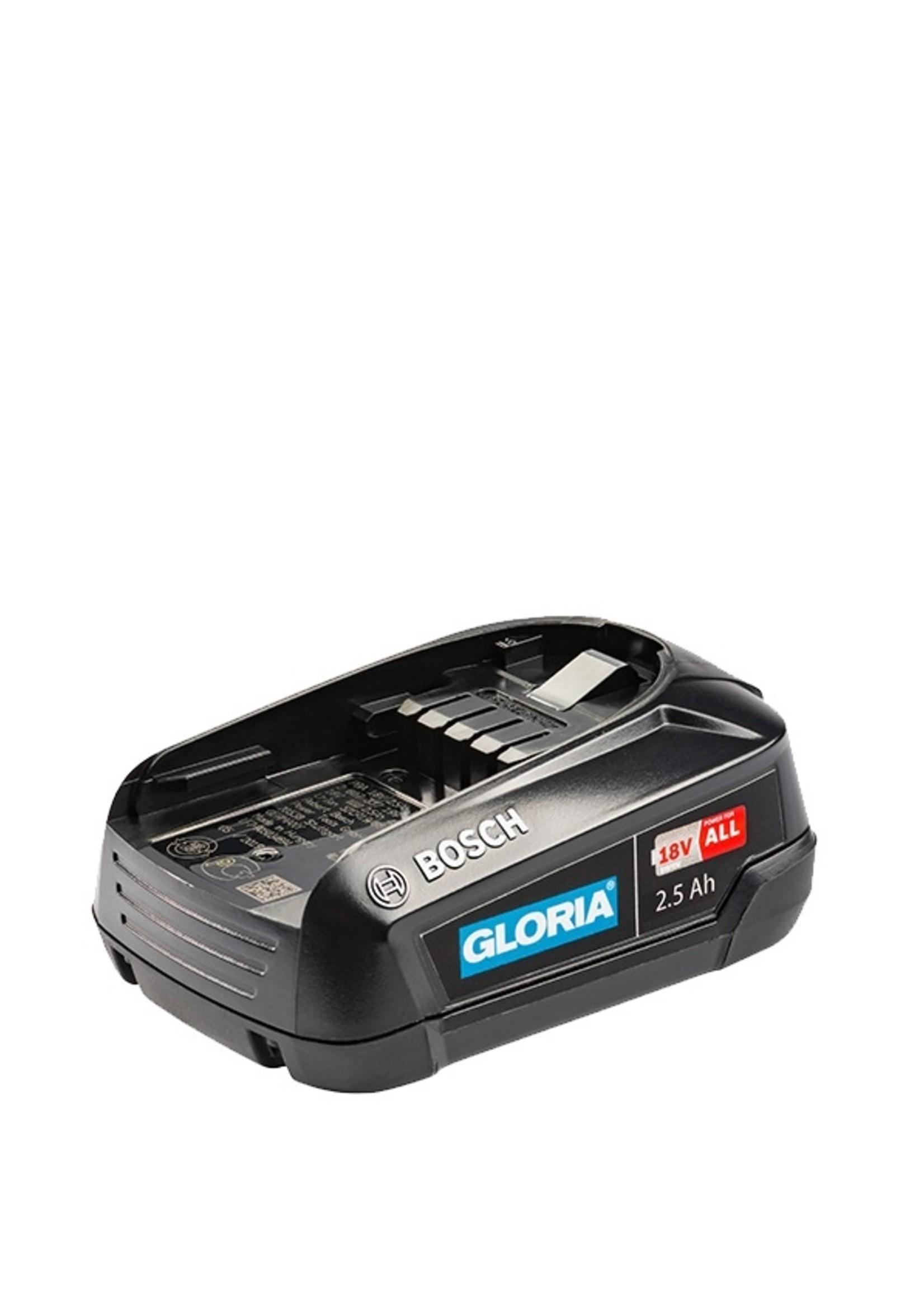 Gloria Accu 2,5 Ah oplaadbare accu met BOSCH Power