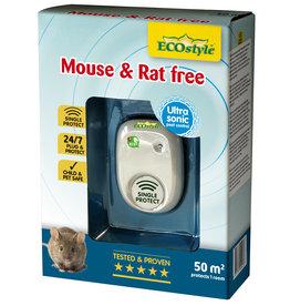 Ecostyle Mouse & Rat free ultrasone verjager (tot 50 m²)