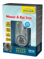Ecostyle Mouse & Rat free X-tra  ultrasone verjager (tot 130 m²)