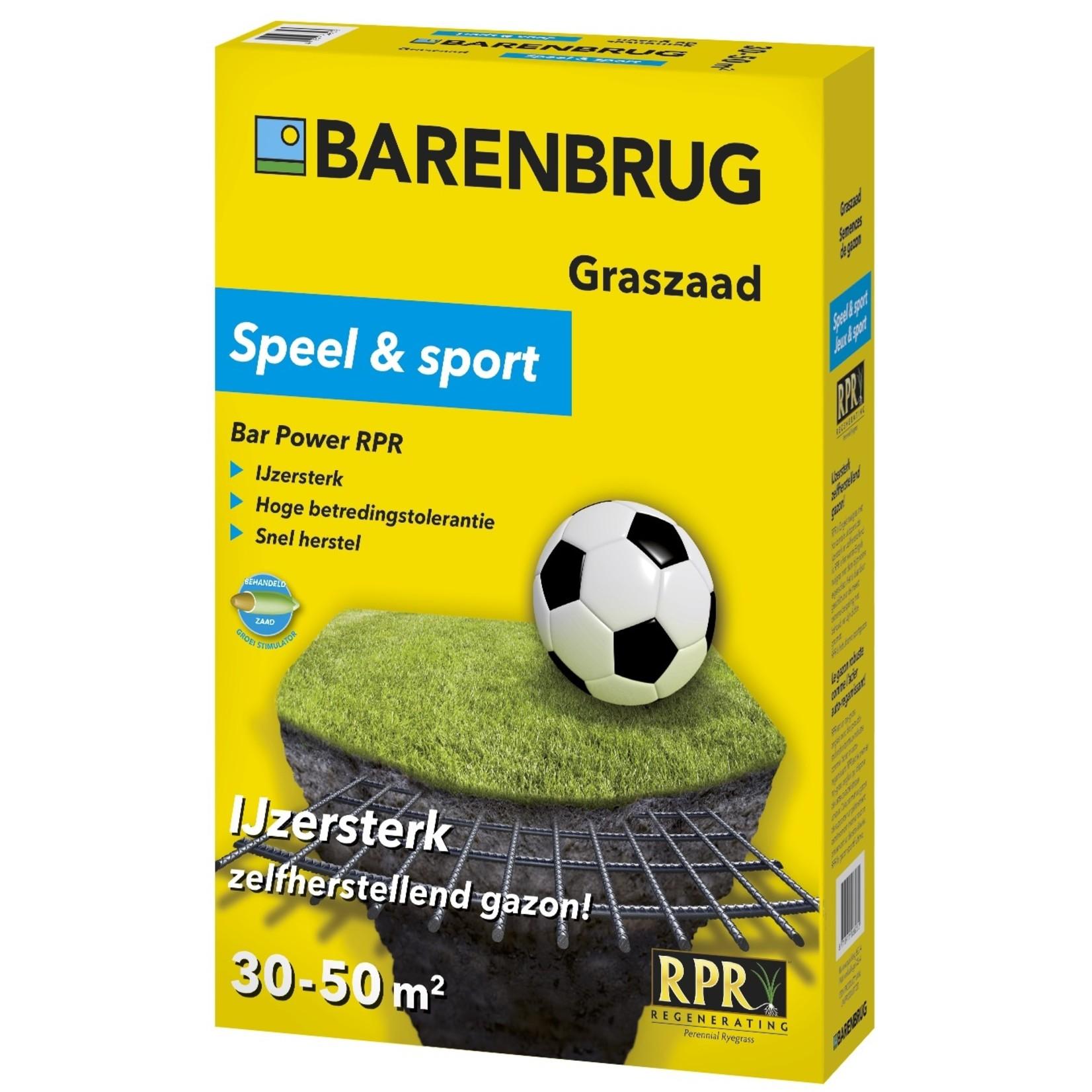 Barenbrug Speel en Sport graszaad 1 kg (30-50 m²)
