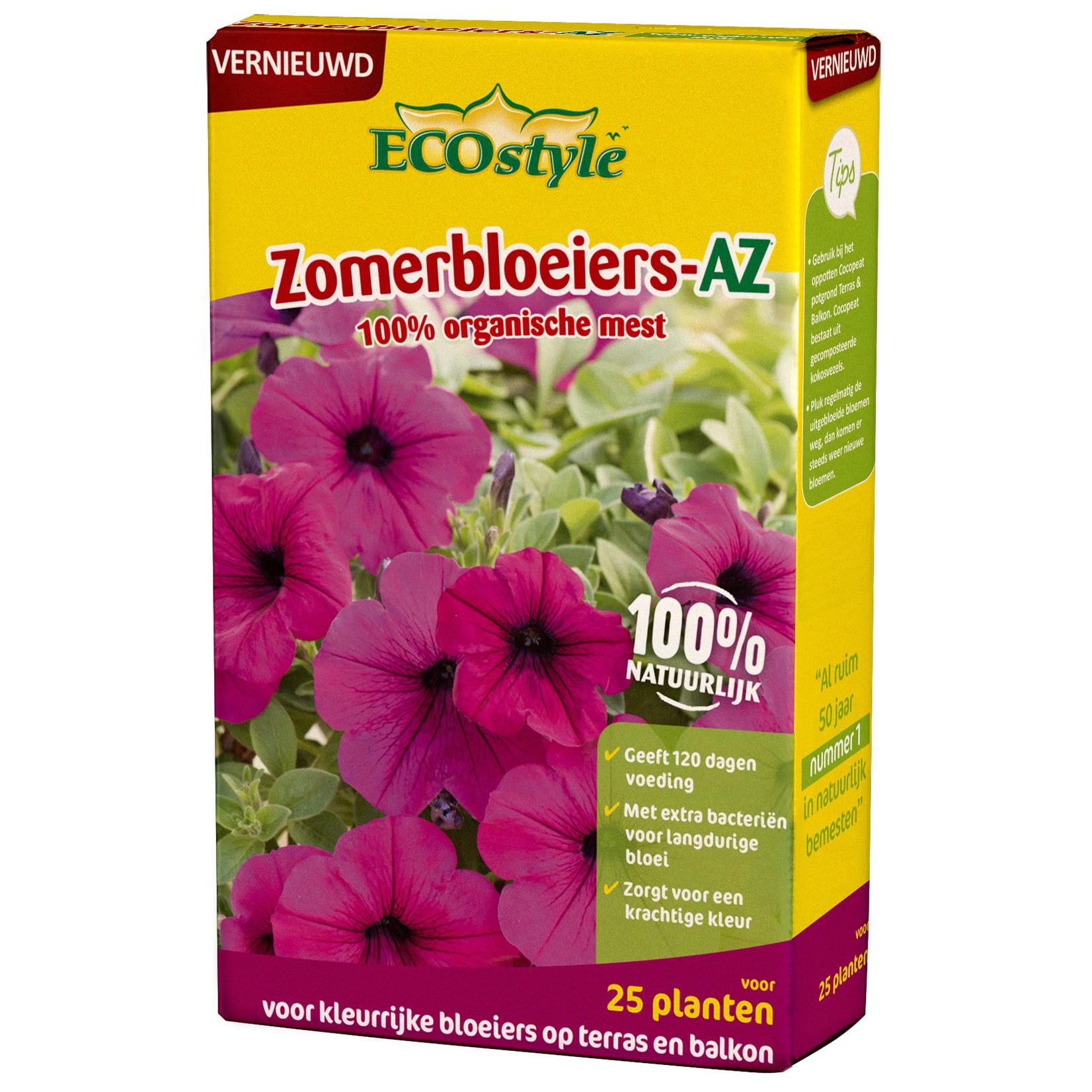 Ecostyle Zomerbloeiers-AZ meststof 800 gram (voor ca. 25 planten)