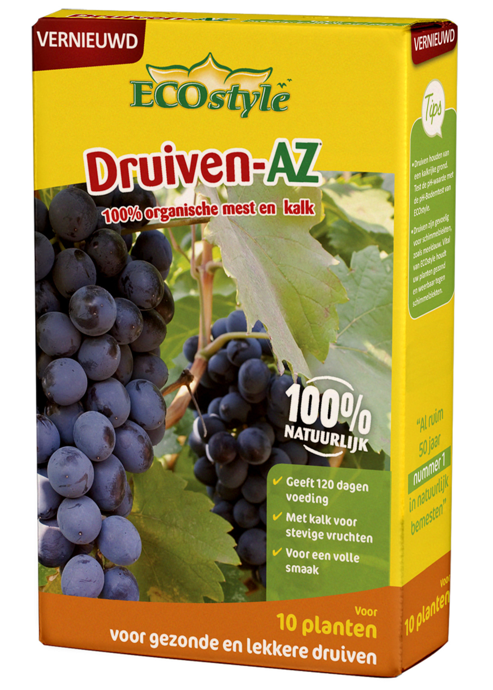 Ecostyle Druiven-AZ meststof 800 gram (voor ca. 10 planten)