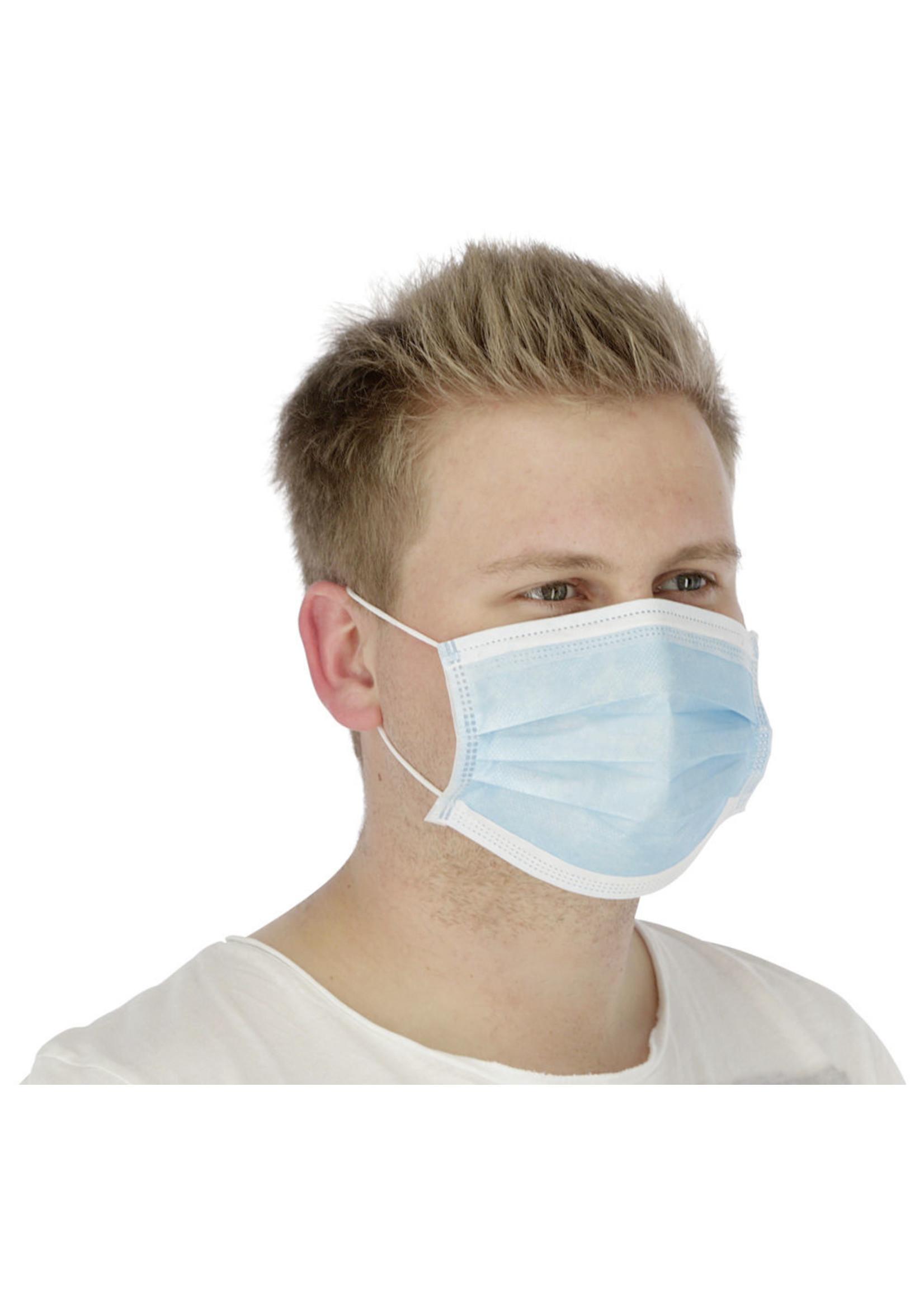 Kerbl Hygiënemasker met neusvormstrip (50 stuks)