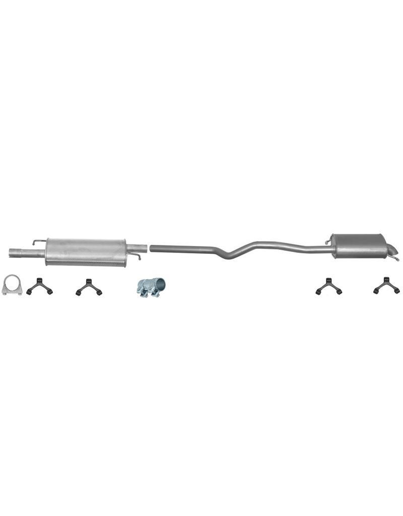 OE Uitlaatset, Einddemper + Middendemper Volkswagen T5 1.9 TDI