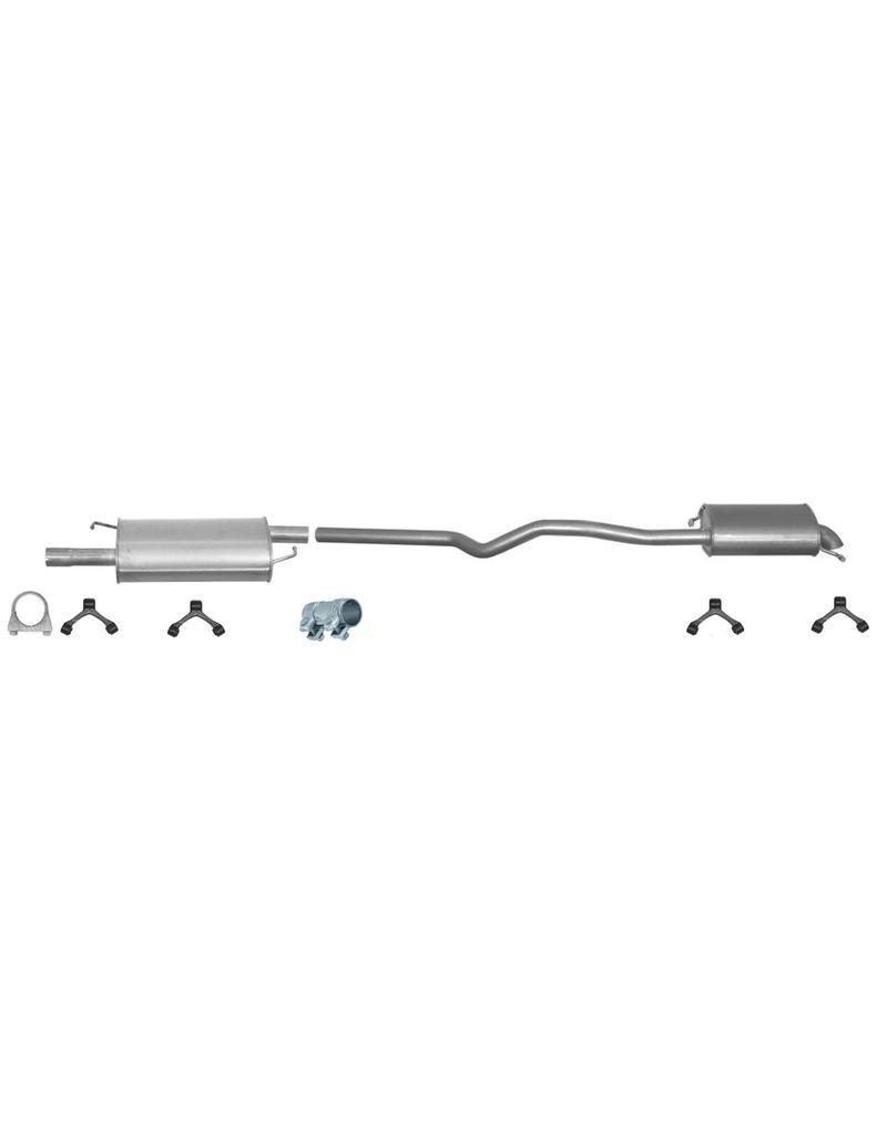 OE Uitlaatset, Einddemper + Middendemper Volkswagen T5 2.5