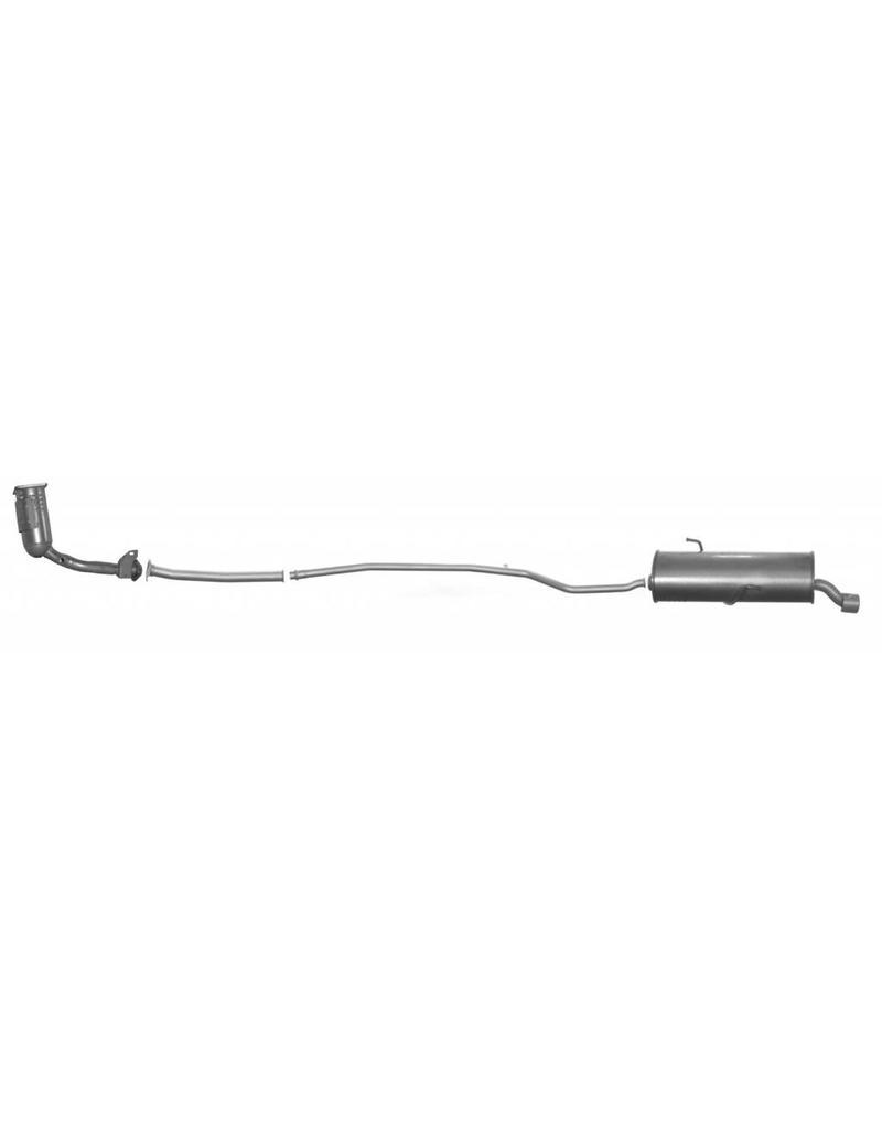 OE Uitlaatset + katalysator Peugeot 206 1.4