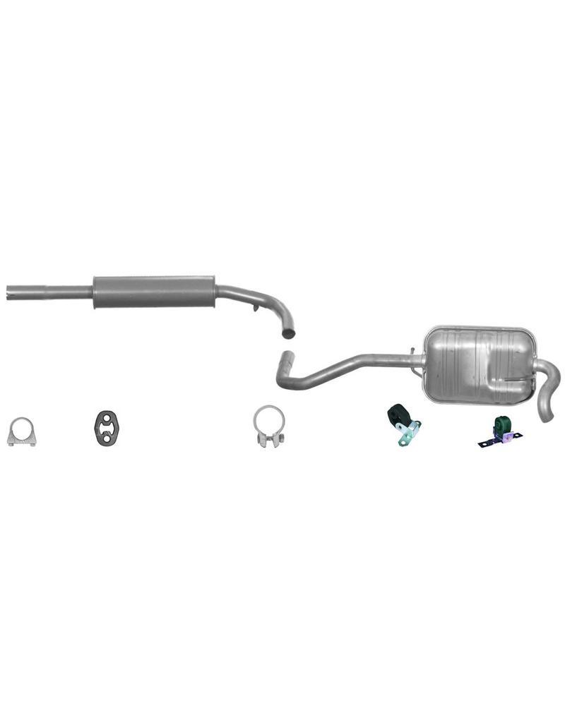 OE Uitlaatset, Middendemper + Einddemper Volkswagen Lupo 1.4