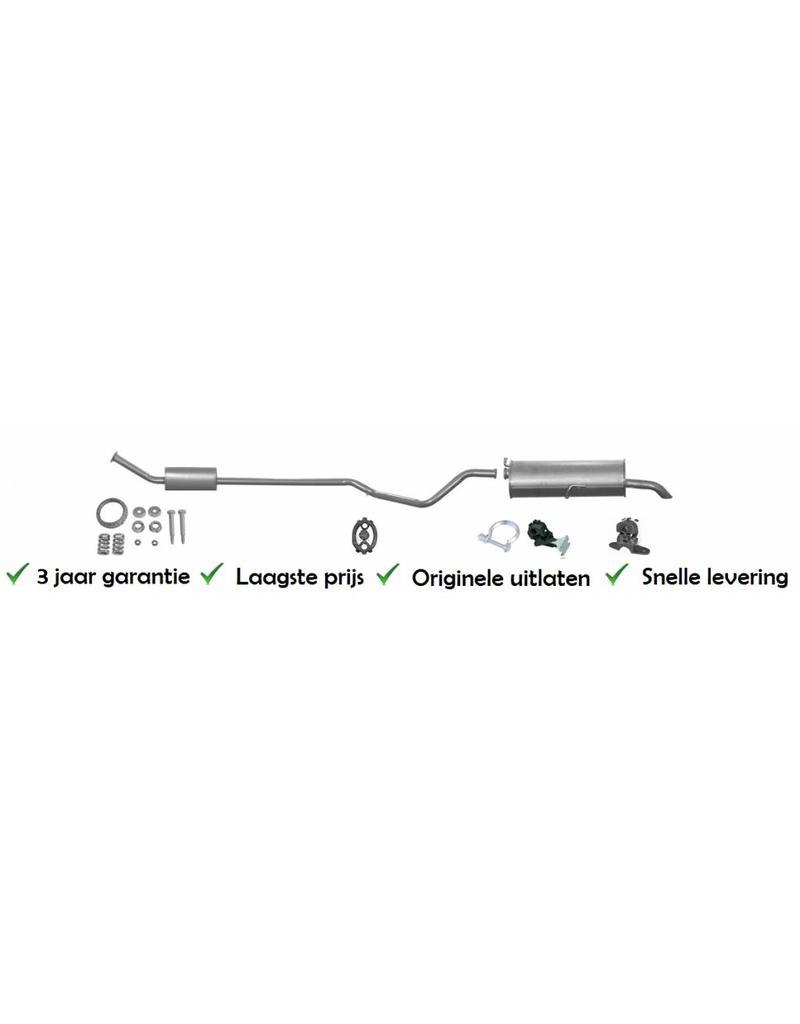 OE Uitlaatset, Einddemper + Middendemper Peugeot 307