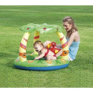 Bestway Babybad Rond schaduw jungle play 99 UV careful