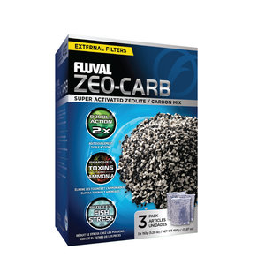 Fluval Zeo-Carb 3 x 150 gram