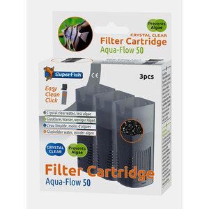 Superfish Aqua-Flow 50 Crystal Clear Filtercartridges