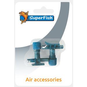 Superfish Luchtslang 2 en 3weg kraan blister 2 stuks