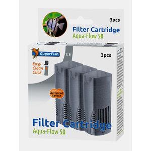 Superfish Aqua-Flow 50 Easy Click Filtercartridges