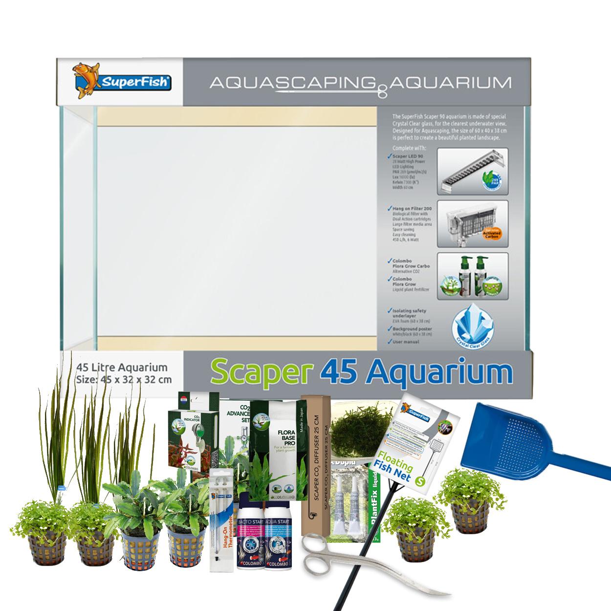 Complete aquarium en aquascape sets van AquastoreXL