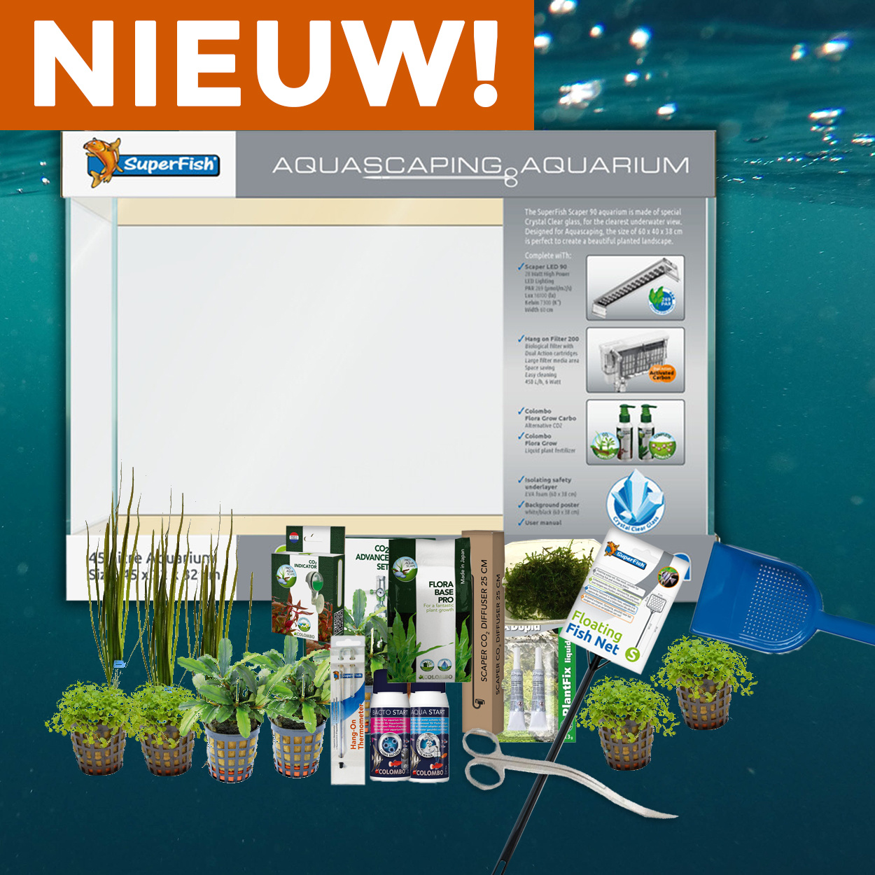 Complete aquarium en aquascape sets van AquastoreXL