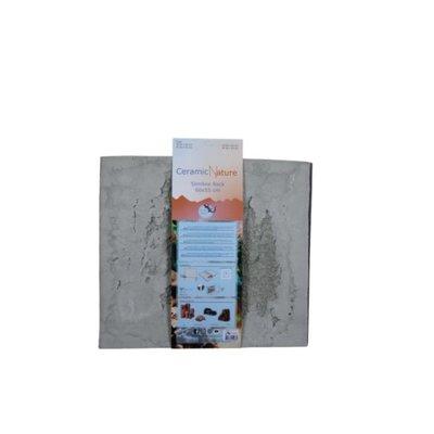 Ceramic Nature Slimline Rock Oxford Grey 60x55cm