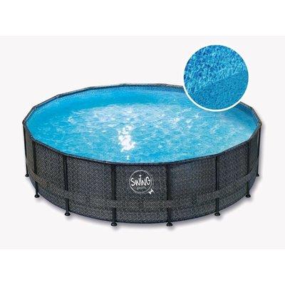 Swing Pool Zwembad Steel Pro Wicker Dark rond 549cm Deluxe
