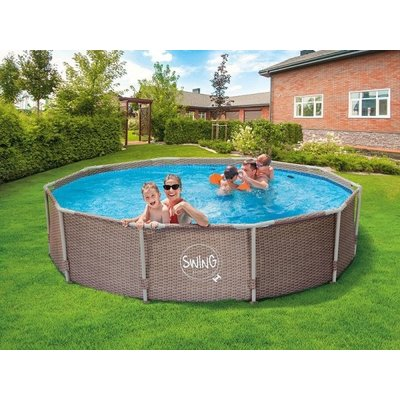 Swing Pool Zwembad Steel Pro Wicker rond 305cm Deluxe