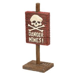 Aqua D'ella Waarschuwingsbord - Danger Mines